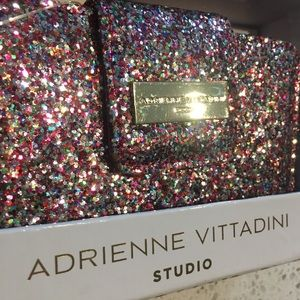rainbow glitter wallet Adrienne Vittadini     Wow
